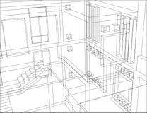 konstruktion för 6 bakgrund Arkivbilder