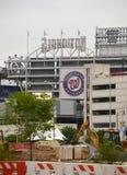 Konstruktion för KapitoliumRiverfrontutveckling utanför medborgare parkerar Washington DC royaltyfri fotografi