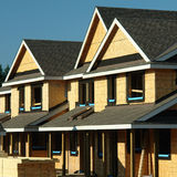 Konstruktion för nytt hus Royaltyfria Bilder