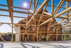 Konstruktion för nytt hus Arkivbild
