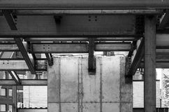 Konstruktion för stål och för konkret byggnad Arkivbild
