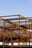 Konstruktion för stålbyggnadsram Arkivbild