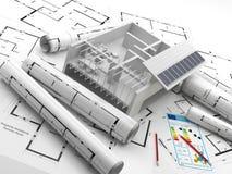 Konstruktion förnybar energi Real Estate i Europa Arkivbild