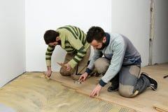Konstruktion i ett renoverat rum Royaltyfri Fotografi