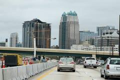 Konstruktion i Orlando, Florida Arkivfoto
