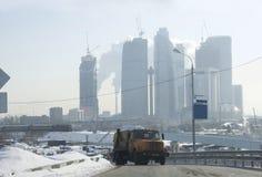 Konstruktion i stad av Moskva. Royaltyfri Fotografi