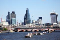 Konstruktion i staden av London Arkivfoto