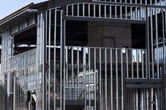 konstruktion inramnintt stål arkivfoton