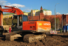konstruktion kremlin moscow nära Arkivfoto