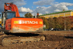 konstruktion kremlin moscow nära Arkivbild