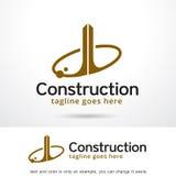 Konstruktion Logo Template Design Vector Vektor Illustrationer