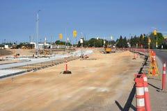 Konstruktion Maj 2019 f?r Waverley gatag?ngtunnel royaltyfria foton