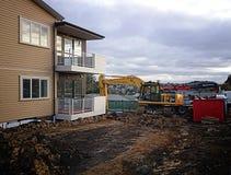 Konstruktion mekaniska Digger Excavator Royaltyfri Bild