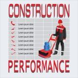 Konstruktion och kapacitet arbetare stock illustrationer