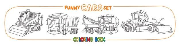 Konstruktion och kommunal bilfärgläggningbok royaltyfri illustrationer