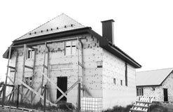 Konstruktion och renovering av huset som är mono Fotografering för Bildbyråer
