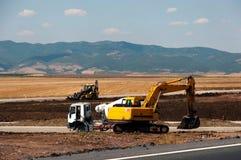 Konstruktion och reparation av huvudvägen Royaltyfria Foton