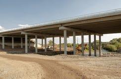 Konstruktion och reparation av huvudvägen Arkivbilder