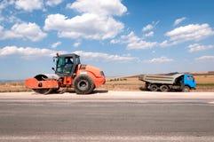 Konstruktion och reparation av huvudvägen Fotografering för Bildbyråer