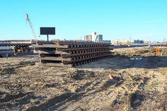 Konstruktion Oktober 2018 för Waverley gatagångtunnel royaltyfri bild