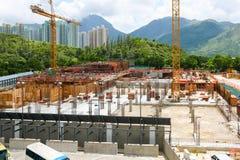 Konstruktion på den Lantau ön Royaltyfria Foton