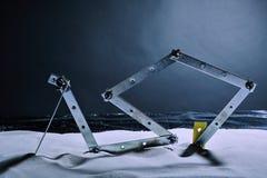 Konstruktion på en vinterstrand Royaltyfria Bilder