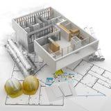 Konstruktion Renewables Real Estate i Europa och USA stock illustrationer