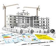 Konstruktion Renewables Real Estate i Europa och USA Arkivbilder