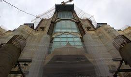 Konstruktion Sagrada Familia Arkivfoto