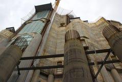 Konstruktion Sagrada Familia Arkivbilder