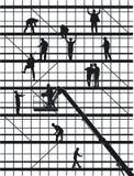 konstruktion silhouettes arbetare Arkivfoton