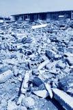 Konstruktion som är förlorad i en stad, porslin Royaltyfri Foto