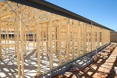 konstruktion som inramniner home nytt Arkivbild