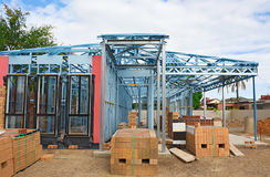 konstruktion som inramniner home nytt Arkivfoto