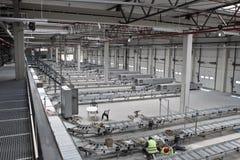 konstruktion som sorterar stationen Arkivfoto