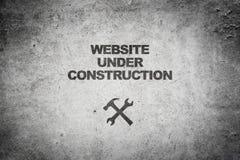 konstruktion under website Arkivbild