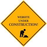 konstruktion under website Arkivfoton