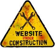 konstruktion under website Fotografering för Bildbyråer