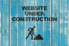 konstruktion under website Royaltyfri Foto