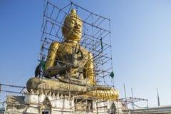 Konstruktionen av buddha Arkivbild