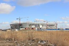 Konstruktionen av stadion arkivfoto