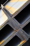 konstruktionsbalkstål arkivfoto