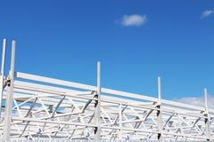 Konstruktionsbyggnad, modern stilhigttech Fotografering för Bildbyråer