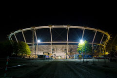 konstruktionseuropoland stadion 2012 under Arkivfoton