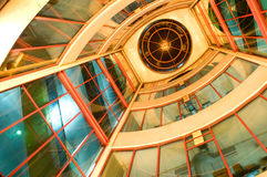 konstruktionsexponeringsglas Arkivfoton