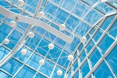 konstruktionsexponeringsglasmetall Royaltyfri Fotografi