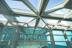 konstruktionsexponeringsglasmetall Royaltyfria Bilder