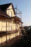 konstruktionsfamiljhus Arkivbilder