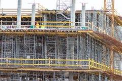 Konstruktionsformwork f?r att gjuta av monolitiska konkreta strukturer och materialet till byggnadsst?llning royaltyfri fotografi