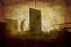 konstruktionsgrungelokal Arkivbild